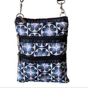 LESPORTSAC BLUE FLORAL PURSE CROSSBODY BAG